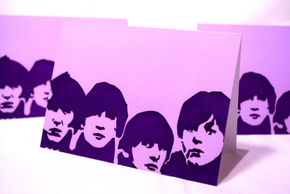 All the Lonely Purple Blank Greeting Card by Daogreer Earth Works