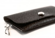 Licorice Sparkle Vinyl ID Wallet by Daogreer Earth Works