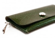 Evergreen Sparkle Vinyl ID Wallet by Daogreer Earth Works
