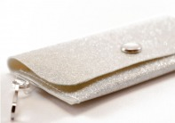 Snow Sparkle Vinyl ID Wallet by Daogreer Earth Works