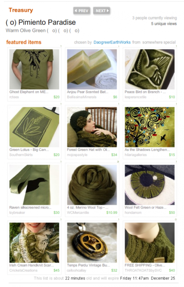 olive green treasury