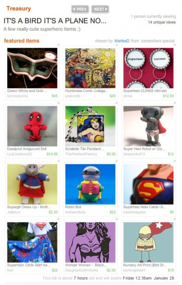 Superhero Treasury