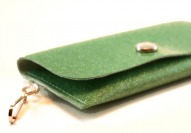 Spearmint Sparkle Vinyl ID Wallet by Daogreer Earth Works