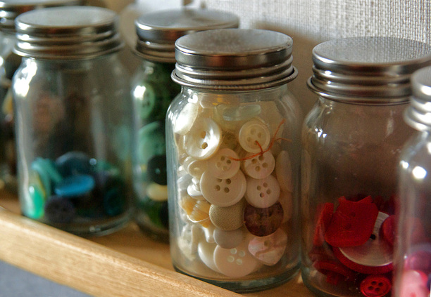Jars of Buttons by Daogreer Earth Works
