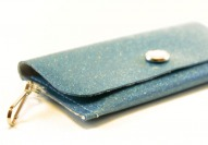 Ocean Sparkle Vinyl ID Wallet by Daogreer Earth Works