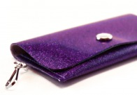 Grape Sparkle Vinyl ID Wallet by Daogreer Earth Works